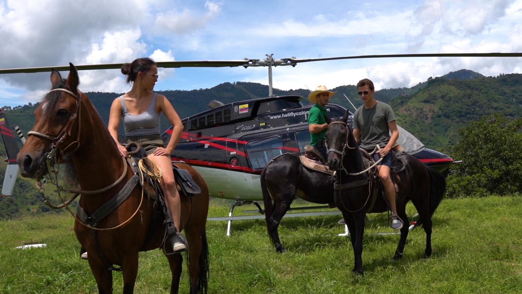Helicoptero Finca La Manchuria
